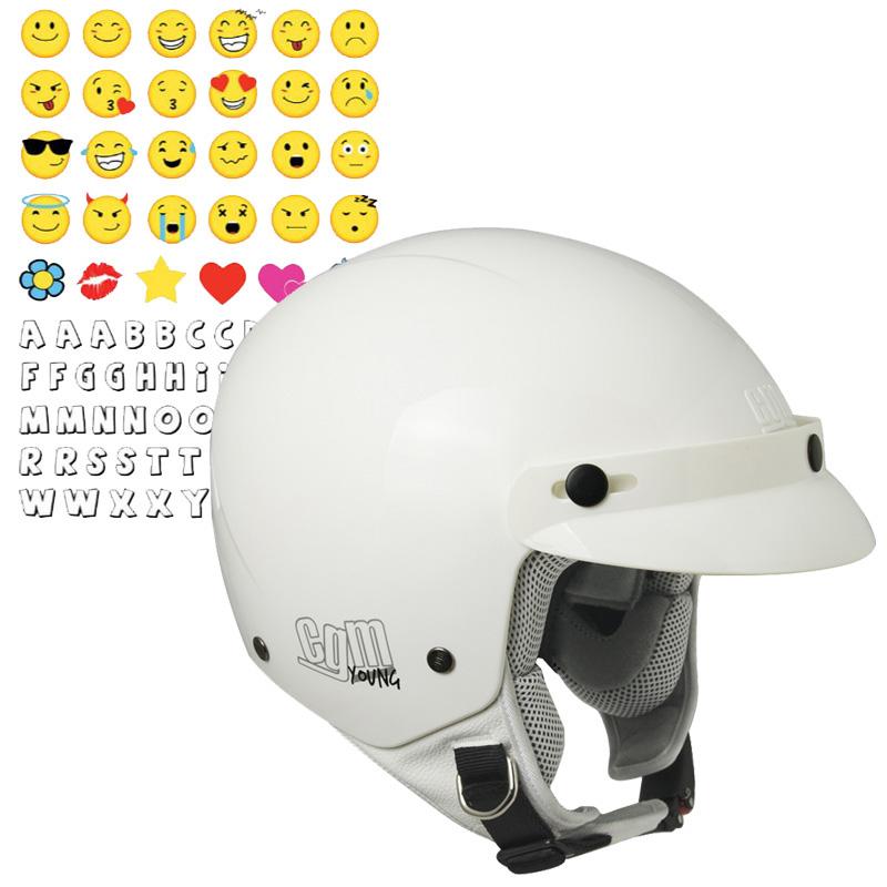 204S-CUBA SMILE (con adhesivo) blanco Talla YL
