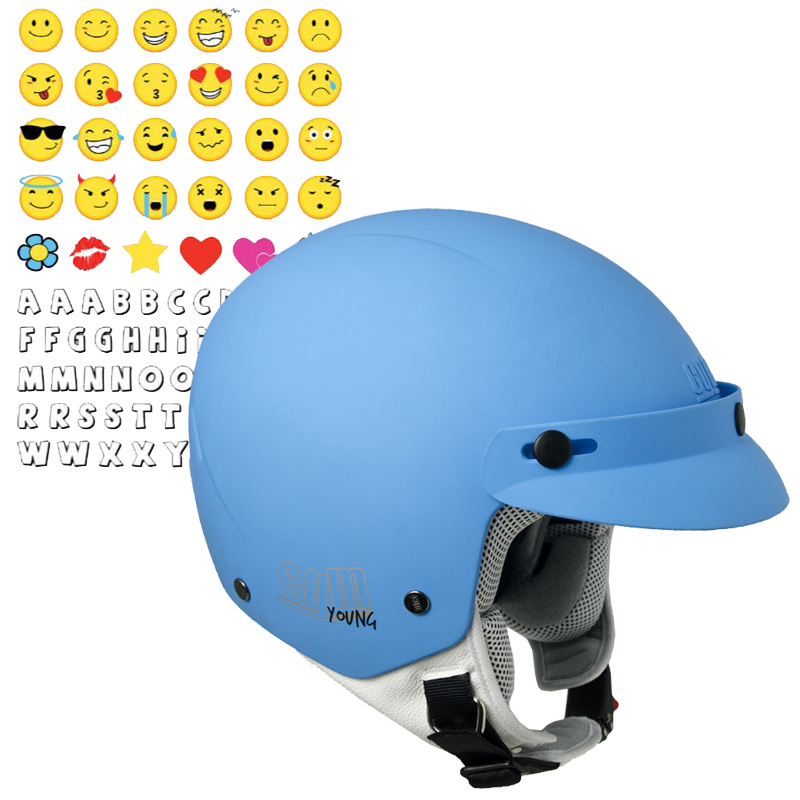 204S-CUBA SMILE (con adhesivo) azul mate Talla YL
