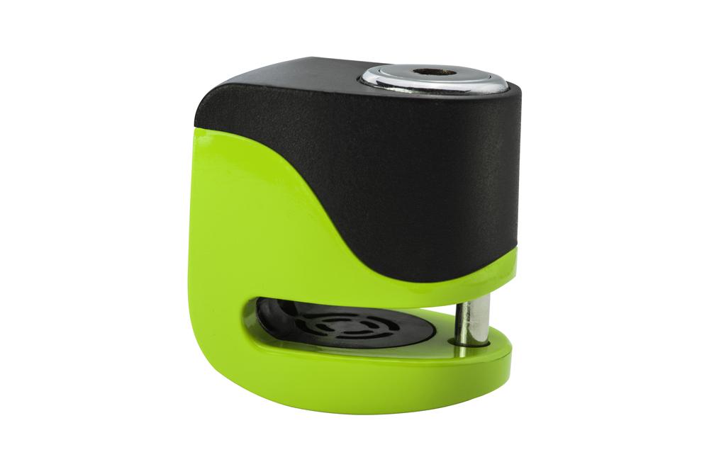 KOVIX KS6-FG Lucchetto de disco con alarma verde fluor 5,5 mm. USB
