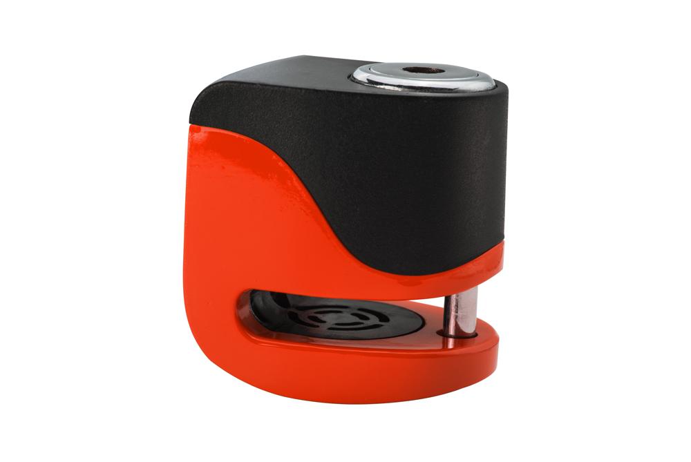KOVIX KS6-FO Lucchetto de disco con alarma Arancia 5,5 mm. USB
