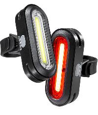 LIGHTS SET FRONT+ REAR FOR BICYCLES KRYPTONITE - AVENUE F-100 + AVENUE R-50