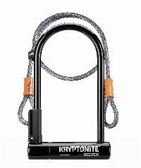 ANTIVOL U KRYPTONITE - KEEPER STANDARD 12 CON CABLE FLEX (244x102mm) NEGRO