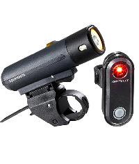 LIGHTS SET FRONT+ REAR FOR BICYCLES KRYPTONITE - STREET F-300 + AVENUE R-30