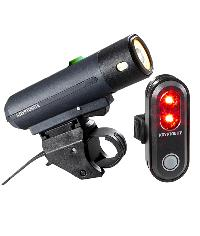 LIGHTS SET FRONT+ REAR FOR BICYCLES KRYPTONITE - STREET F-500 + AVENUE R-45