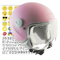 205S-HSA-36 CASCO NIÑO (YS) 205S MAGIC SMILE ROSA MATE PANTALLA CORTA